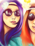 Birthday Gift - We're hippies and we like it by SarahDealerEvans
