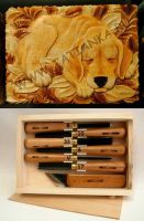 Sleeping dog - a carved box by tatianka-ru