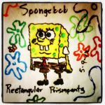 Napkin Art #18 - Spongebob Rectangular Prismpants by PeterParkerPA