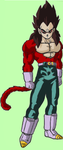 vegeta ssj4 by adminelover