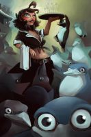 Happy new year with penguins by Pendalune
