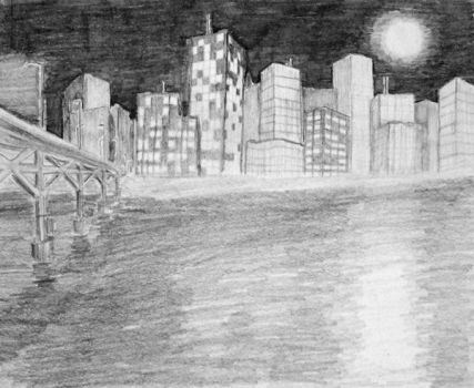 Late Night Cityscape by eric22222