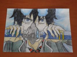 Rin Okumura in Color by Devil-of-the-Moon