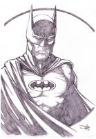 Batman Bust Sketch by Carl-Riley-Art