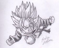 Goten - Sketch #2 by Jaylastar