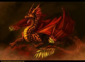 day 14 - fire king by Silverbloodwolf98
