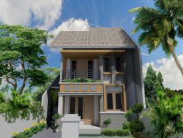 Exterior Design ( school project AutoCAD ) by alongart