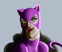 Catwoman detail by Elvenwyn