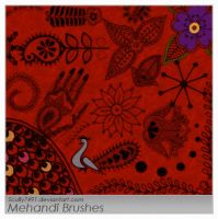 Mehandi Designs Brushes by Scully7491
