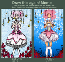 Draw this again Meme: Madoka by Impopentti