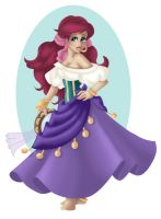 + ARIEL as ESMERELDA + by Opal-I