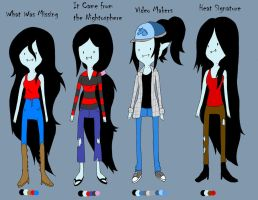 Marcline Outfits by BrookiexMonster