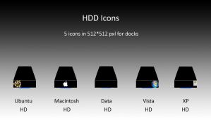 HDD Icons by lebreton