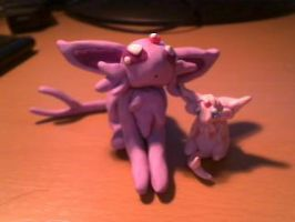 Espeon and kit by Mirera