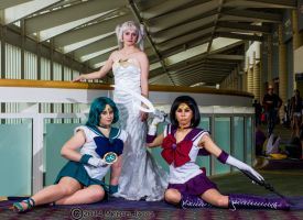 Sailor Neptune, Queen Serenity and Sailor Saturn 1 by Insane-Pencil