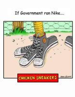 Chicken Sneakers by AtomicCheese