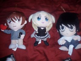 Death Note Plushes by KittyChanBB