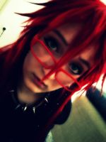 Grell in spiked collar? by RainbowTigerPaws