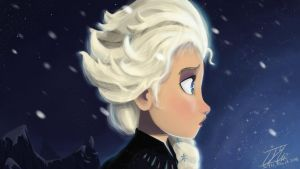Disney's Frozen : Elsa - Born of Cold by Rydelio
