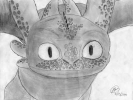 Toothless Sketch by CookieDashz