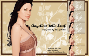 Angelina Jolie Leaf by MrEyePatch