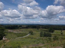 view from little round top by Colliequest