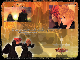 Axel and Roxas Wallpaper by Doggy-san