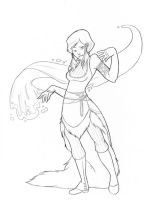 Steampunk: Korra: Sketch by RagingHue