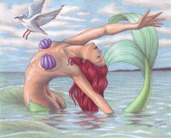 Ariel Ashore by crystalunicorn83