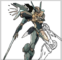 Jehuty of Zone of the Enders. by Sutekiii
