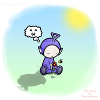 Tinky Winky and his Bee by TherealPara