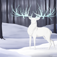 Frost Deer by Renathory