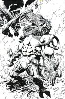 Invincible 80 cover - Ottley - Egli - inks by SurfTiki