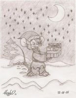 Fievel at Christmas - 2006 by Maxl654
