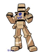 Cardboard armor guy doodle by rongs1234