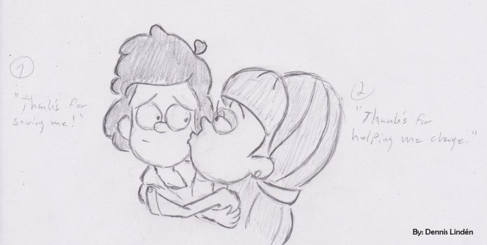 GF - Dipper and Pacifica(sketch)2 by dammpa