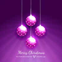 Beautiful Christmas Balls Free Vector by vecree
