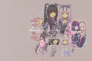 Chocola and Vanilla Wallpaper by kagomechan20