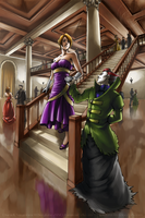 At the ball - commission by dzioo