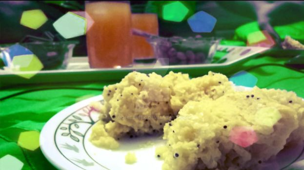 Indian cuisine (dhokla) by rohitbrisk