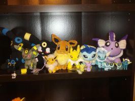 eeveelution plush and figures for sale by xdecemberxlovex