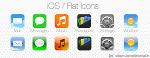 iOS 7 Flat icons by WillViennet