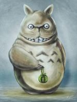 Totoro Communis Domestica Digital Painting by studiomuku