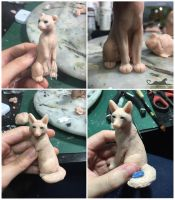 :.The fox and the panther - WIPS.: by XPantherArtX