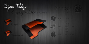 Orange Empty Folder by Drawder