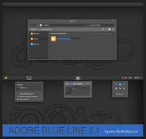 Adobe blue line Theme Windows 8.1 by cu88