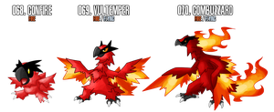 Fakemon: 68 - 70 by DrCrafty
