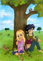 Summerday in Valinor - coloured by Celerana-chan