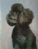 WIP: painting of bear by millie-gillana