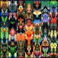 Totemic Folding Screen by james119
